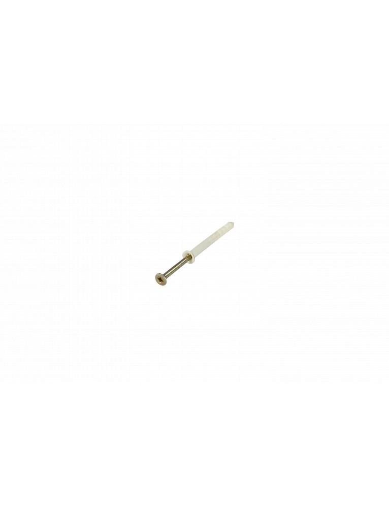Vis à frapper 6 x 60 mm, Cheville PVC